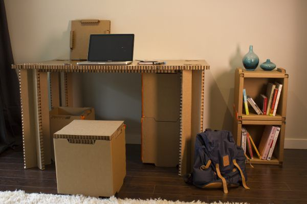 If furniture is going to be disposable it should be made from cardboard. And then recycled. Image Source - Minji