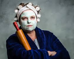 Mean mum. Bad Cop. Ever likely people look at me, I really should leave the rolling pin at home. Image source - mommyish