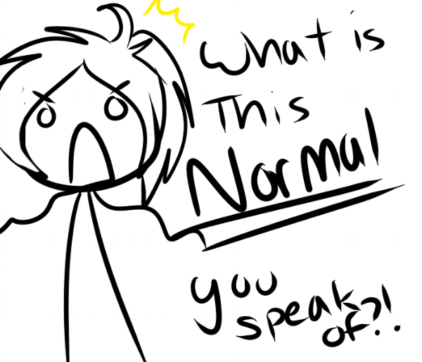 N is for Normal. No is in normal. That can't be a coincidence. Image source - Devianart.com