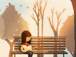 Cartoon girl:guitar