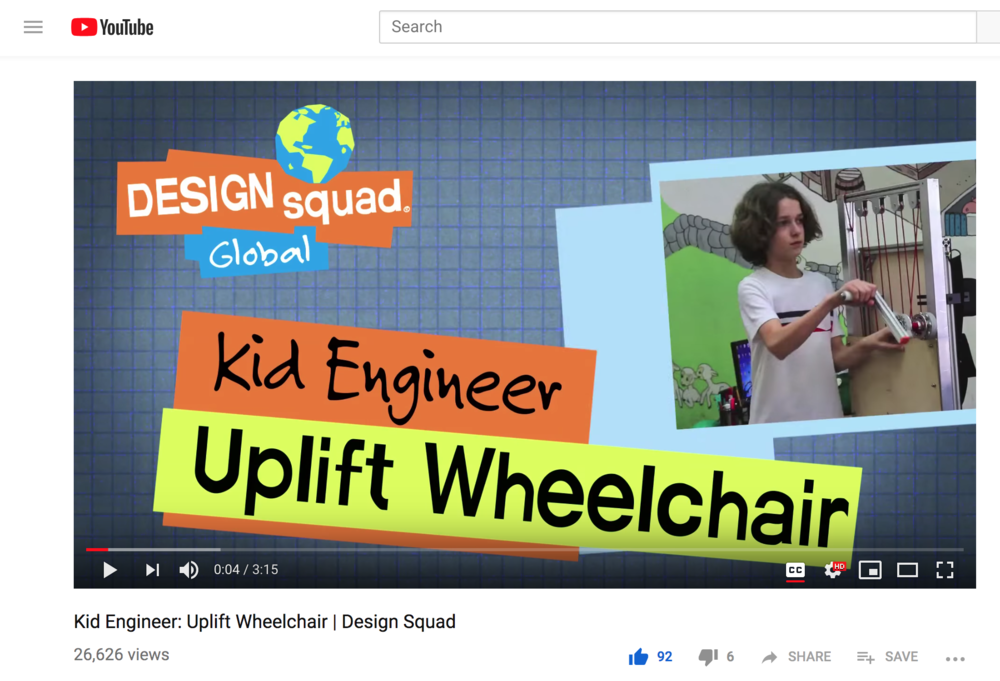 "- Stefano featured on Kid Engineer for ""Uplift Wheelchair"" from the Easing Cerebral Palsy Studio.more…"