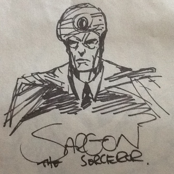 Sargon sketch by Mark Millar at 1996 SD Comicon.
