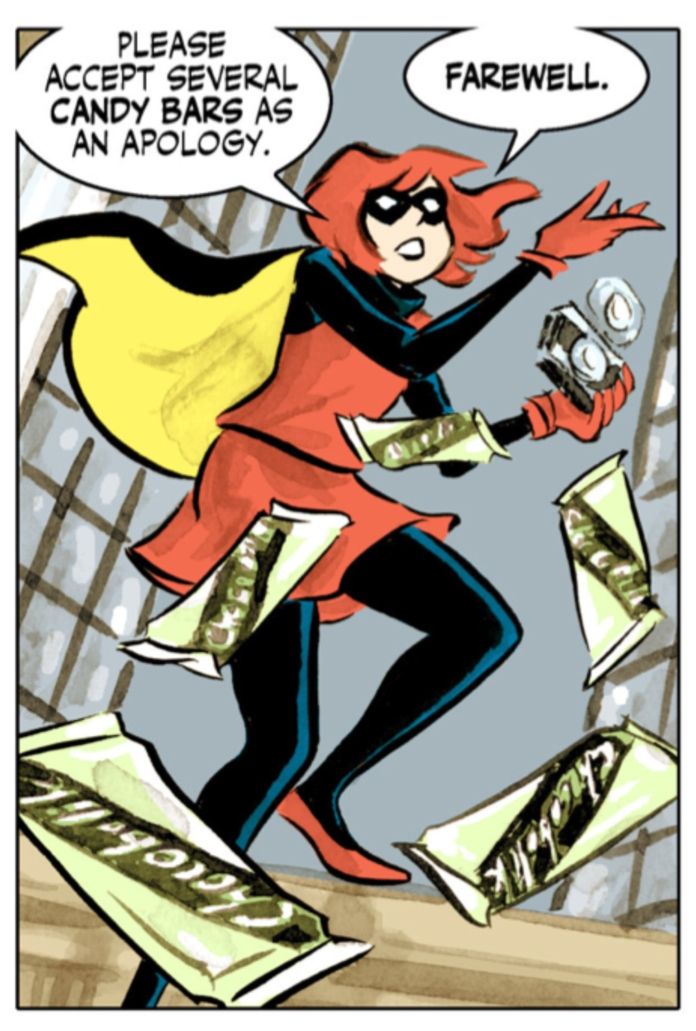 Bandette aime son chocolat.(C) 2016 Paul Tobin and Colleen Coover.
