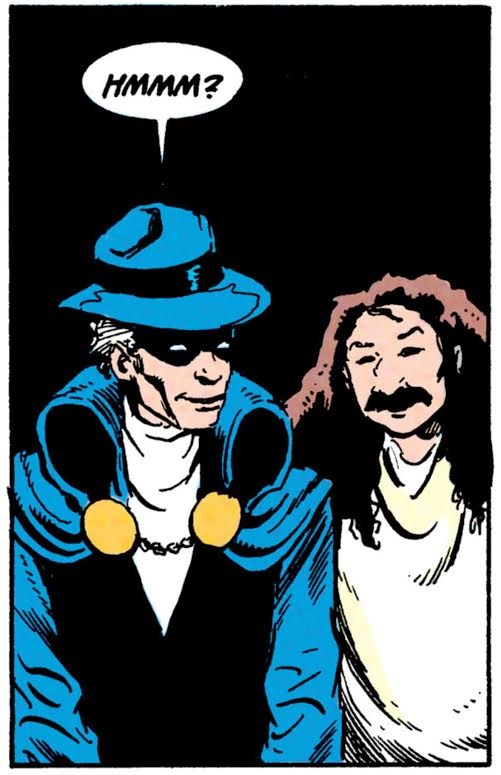 The Phantom Stranger and The Avatar. From Doctor Fate 24 by J.M. DeMatteis and Shawn McManus. (c) 2016 DC Comics.