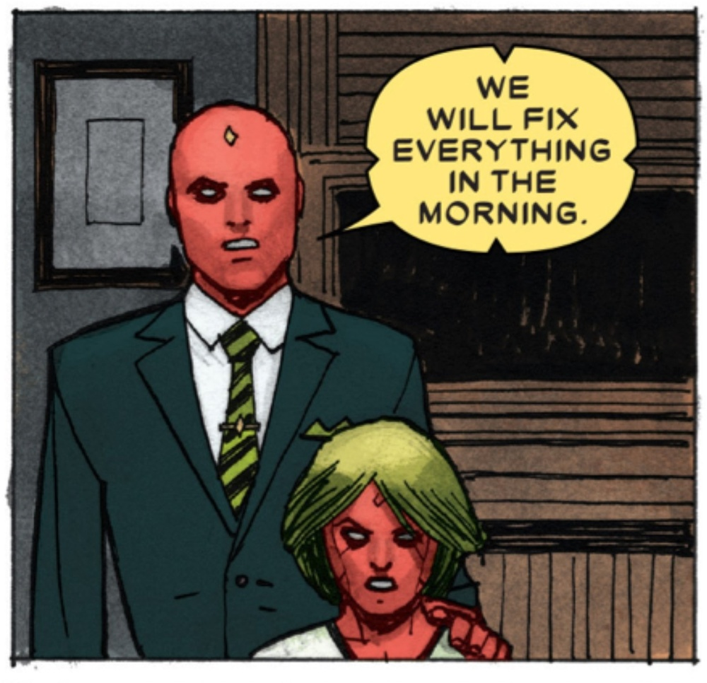 Or not. From Vision 5 by Tom King and Gabriel Walta.(C) 2016 Marvel Comics.