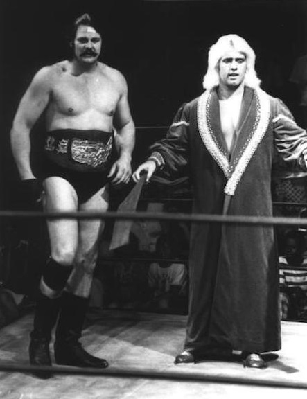 Blackjack Mulligan and Ric Flair in the Crockett territory.