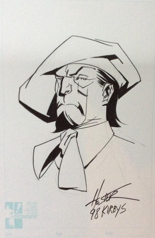 Paste Pot Pete sketch by Phil Hester.