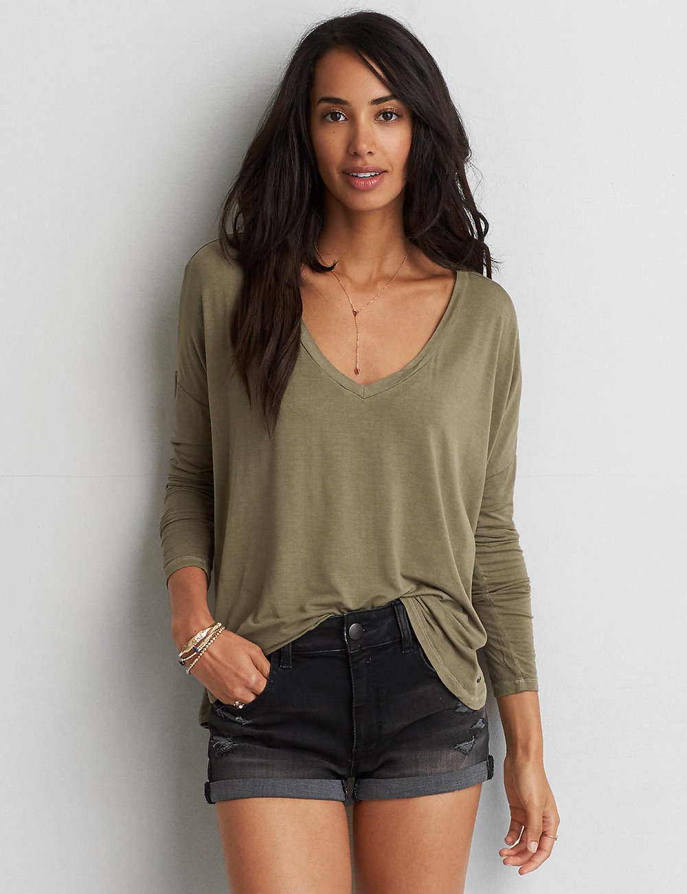 AEO SOFT & SEXY DROP SHOULDER T-SHIRT $24.95
