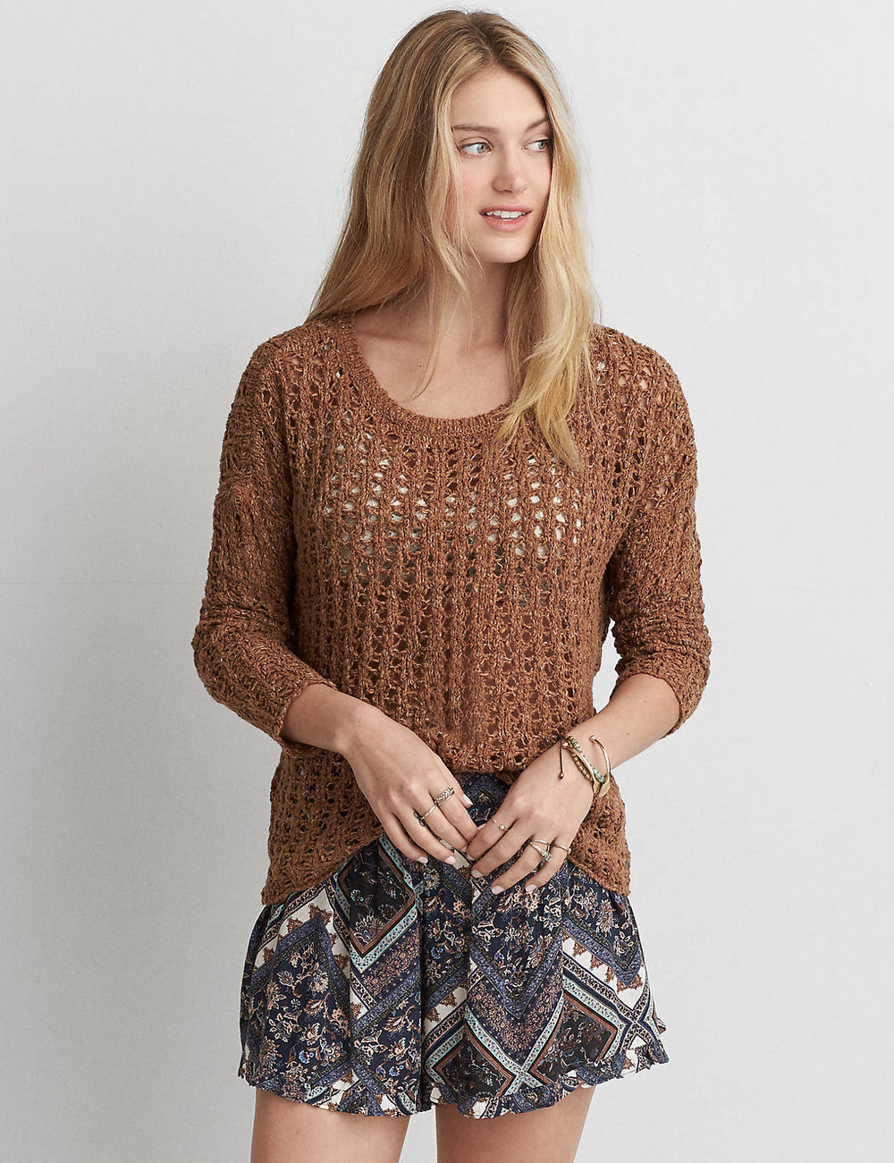 AEO OPEN KNIT SWEATER $44.95