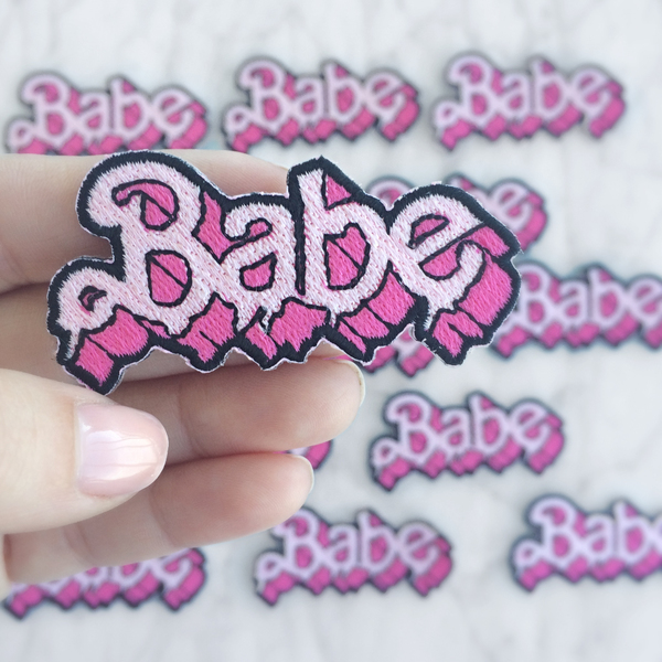 Babe Drippy Letters Embroidered Patch $4.00