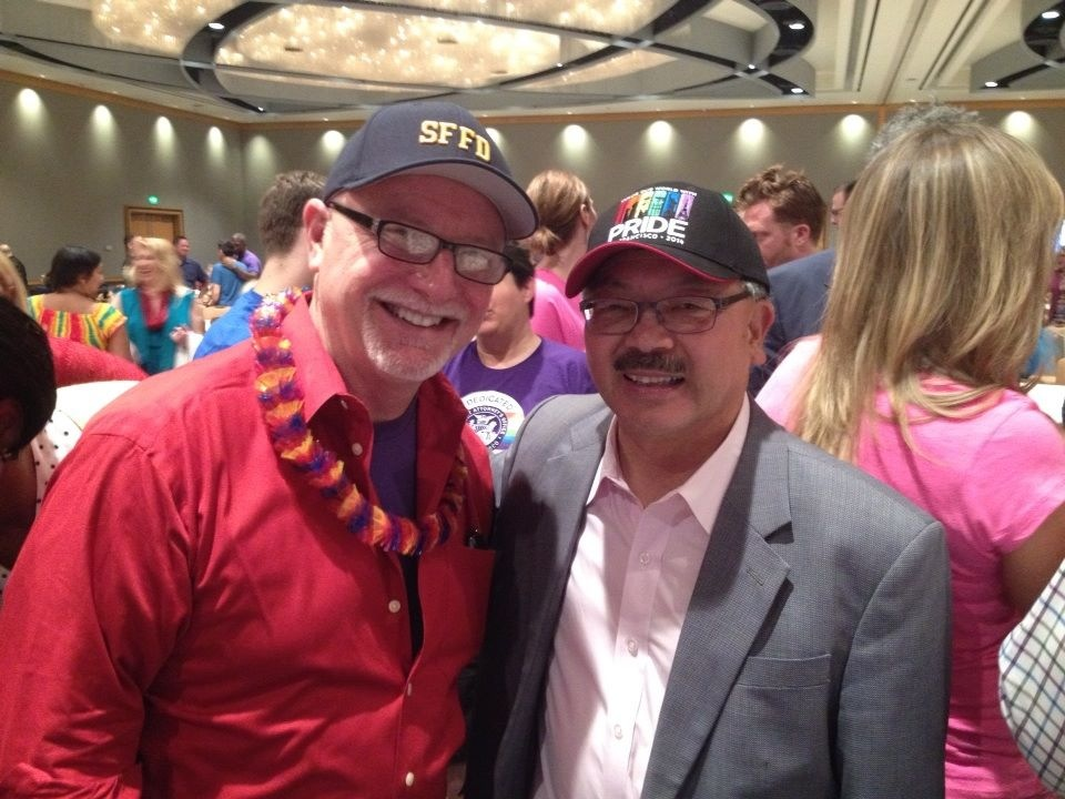 Fire Commissioner Ken Cleaveland and Mayor Ed Lee