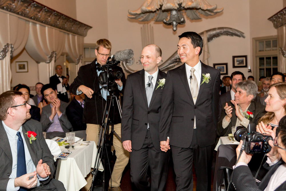 Author Joel Engardio (left) and Lionel Hsu were married in San Francisco on February 21, 2015.