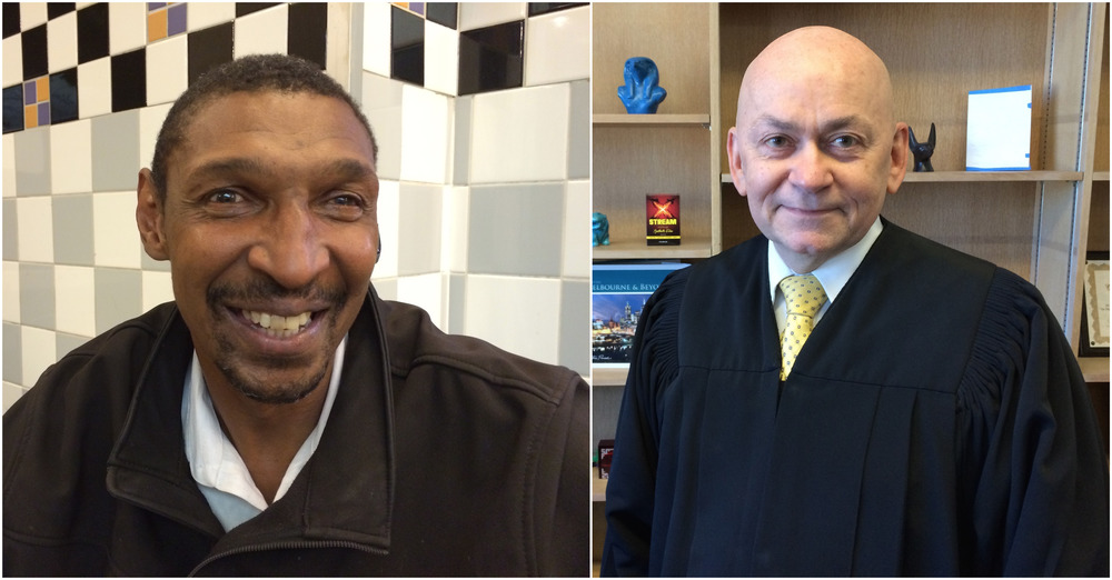 David Traylor (left) isn't psychotic, in jail or dead today thanks to Judge Ronald Albers (right) of San Francisco's Behavioral Health Court.