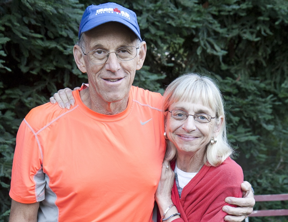 Evy Schiffman with her husband Neil a few months before he died of lung cancer at 67.