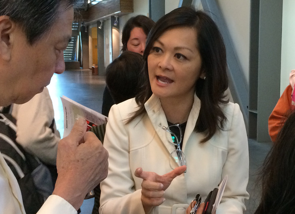 San Francisco Assessor Carmen Chu dispensing advice at her Family Wealth Forum.