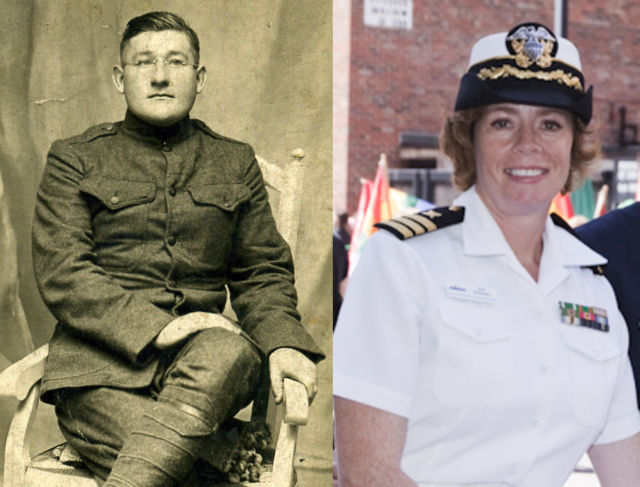 World War I veteran Wilford Sheltraw and retired U.S. Navy Commander Zoe Dunning served a century apart, but the Great War connects them.