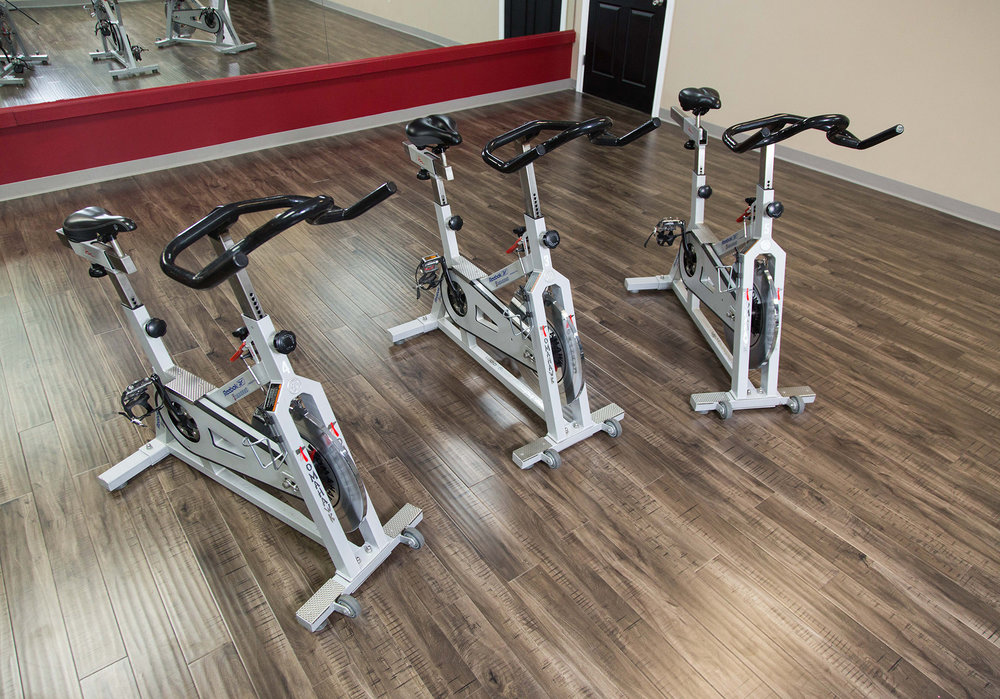 Take a ride on our spin bikes!