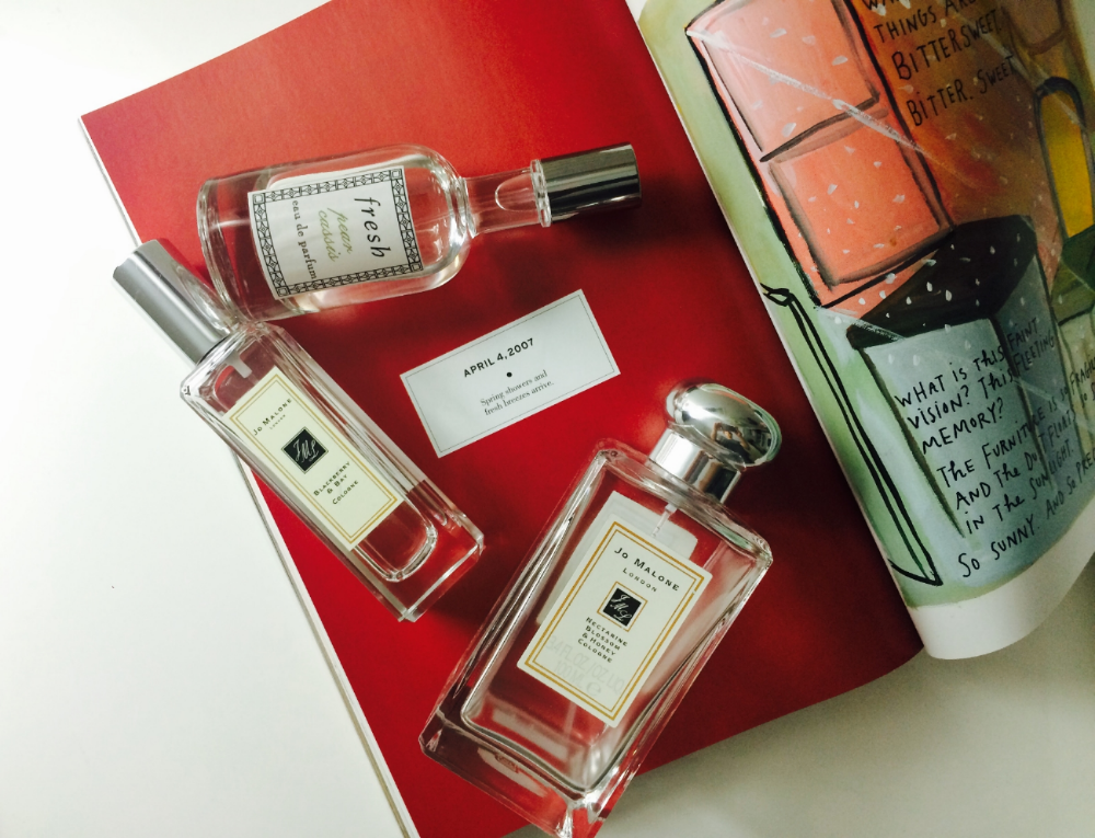 Book :  The Principles of Uncertainty   Perfume : Jo Malone, Fresh