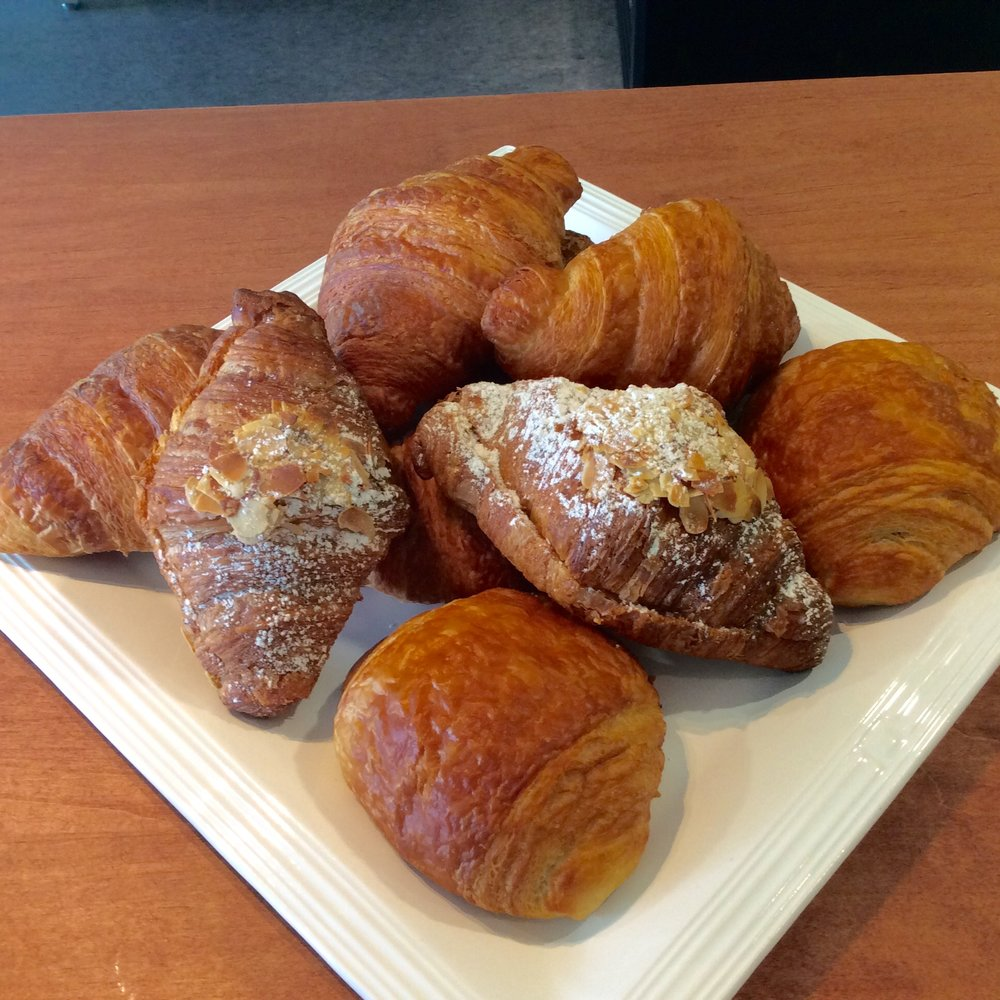 We also have Golden Hearth croissants: with almond cream ($2.85), or Chocolate Croissants with almond cream ($2.95). Mmm!