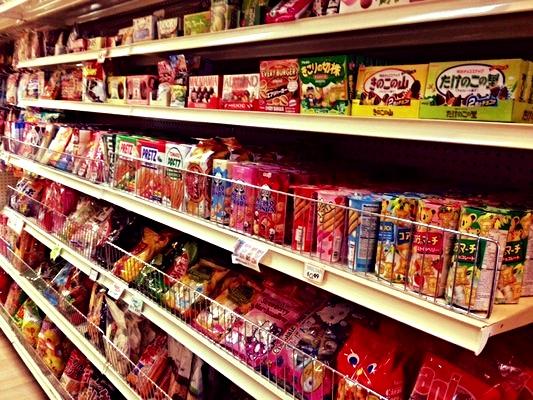 Loads of tasty snacks
