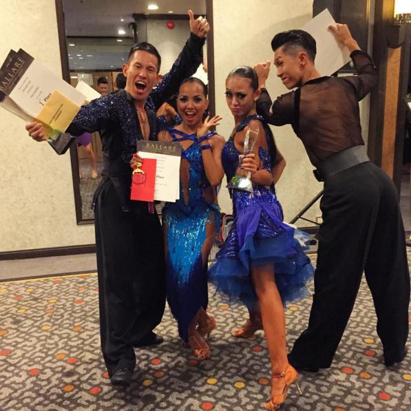 Asian Professional Latin Champion at the Ballare International Dance Championship 2015