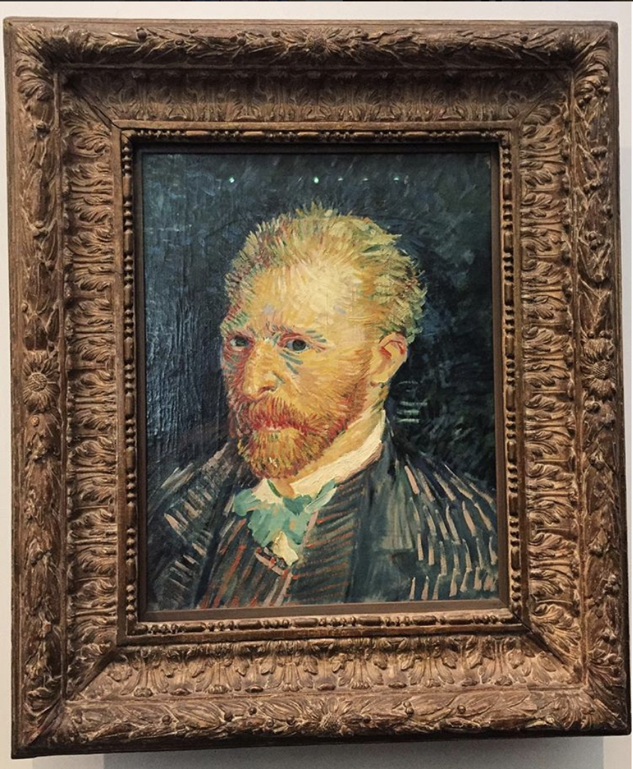 Van Gogh's #selfie game is strong.