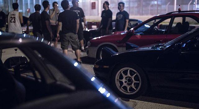 We parked. We talked for the whole night. #midnight #drivingclub #mr2 #sw20 #gf8 #mx5 #miata #ae86 #gtr #r32 #skyline #nissan #toyota #mazda #subaru #honda #classiccarsdaily #classiccar #classic #classicsracer #hk #hongkong #852 #852classic #852car