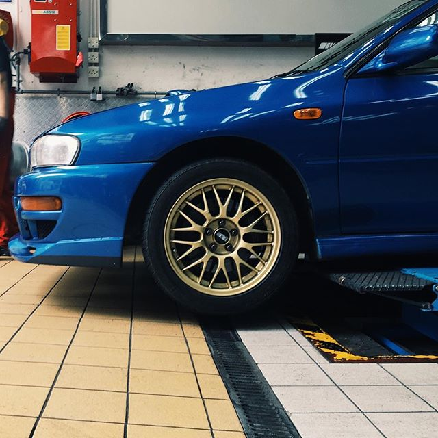 Tires changing day. For my own safety.  _________________________________________ #classicsracer #classicstyle #classics #classiccarsdaily #gc8 #subaru #sti #newtires #safetyfirst