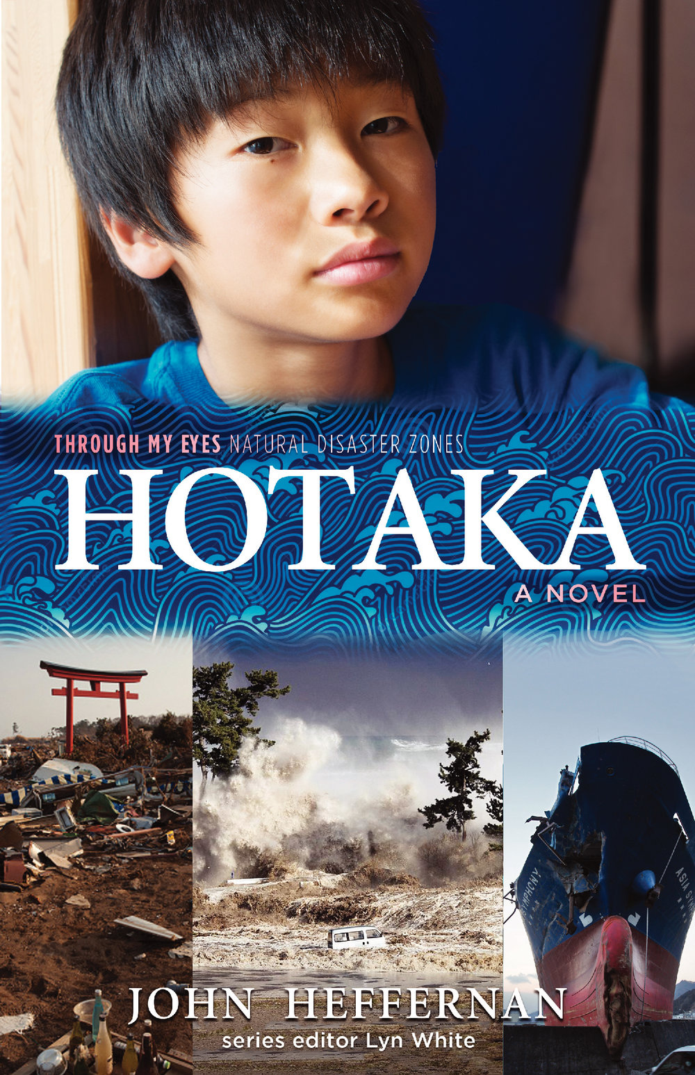 "HOTAKA  is the first book in the second  Through My Eyes  series   from Allen & Unwin that examines natural disasters - a starkly realistic novel about the Japanese tsunami of March, 2011. It explores the impact of the disaster on one teenage boy, the introspective Hotaka, and to a lesser degree on his two best friends, feisty Sakura and tech-head Osamu. In doing this, the book also examines the huge social impact of the disaster on Hotaka's once beautiful little town of Omori-wan, utterly destroyed by the wave.   This is an uplifting book about hope and resilience in the face of loss, grief and tragedy, about the need people have for each other in times of adversity. On one level it is a simple human story of a boy facing the truth. Yet it is also a melding of many individual stories. In its broadest sense,  HOTAKA  is a tribute to the people of the Tohoku region for their amazing strength and capacity to help each other rise from the ashes and rebuild their lives.  ""I travelled to Japan to research  HOTAKA , talking to a range of teenage students, as well as teachers and principals. This deepened my grasp of the huge personal and social impact of the 2011 Tohoku disaster, and helped me understand some of the complexities of Japanese culture.""   HOTAKA  is suitable for readers from Upper Primary to Middle High School."