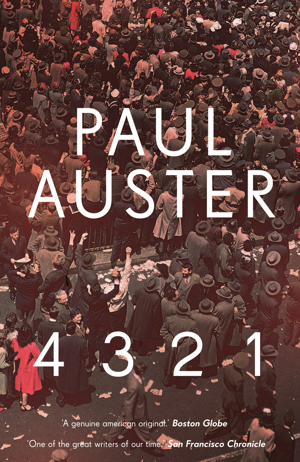 4 3 2 1 by paul auster - On March 3rd, 1947, Archibald Isaac Ferguson, the only child of Rose and Stanley Ferguson, is born. From that single beginning, Ferguson's life will take four simultaneous paths. Four Fergusons will go on to lead four parallel and entirely different lives. Family fortunes diverge. Loves and friendships and passions contrast. Each version of Ferguson's story rushes across the fractured terrain of mid-twentieth century America, in this sweeping story of birthright and possibility, of love and the fullness of life itself.