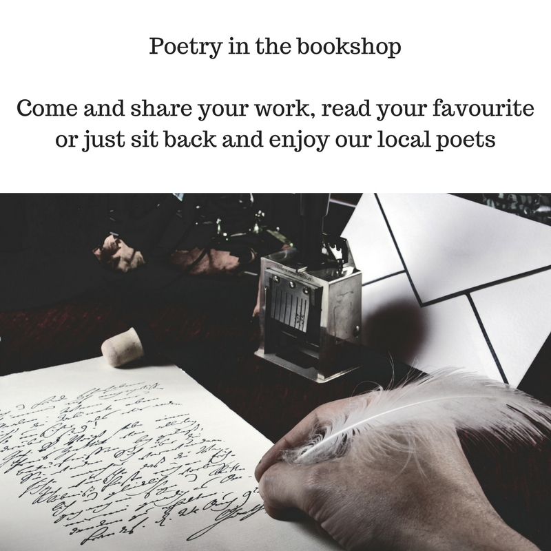 Poetry in the bookshopCome and share your work, read your favourite or just sit back and enjoy our local poets.jpg