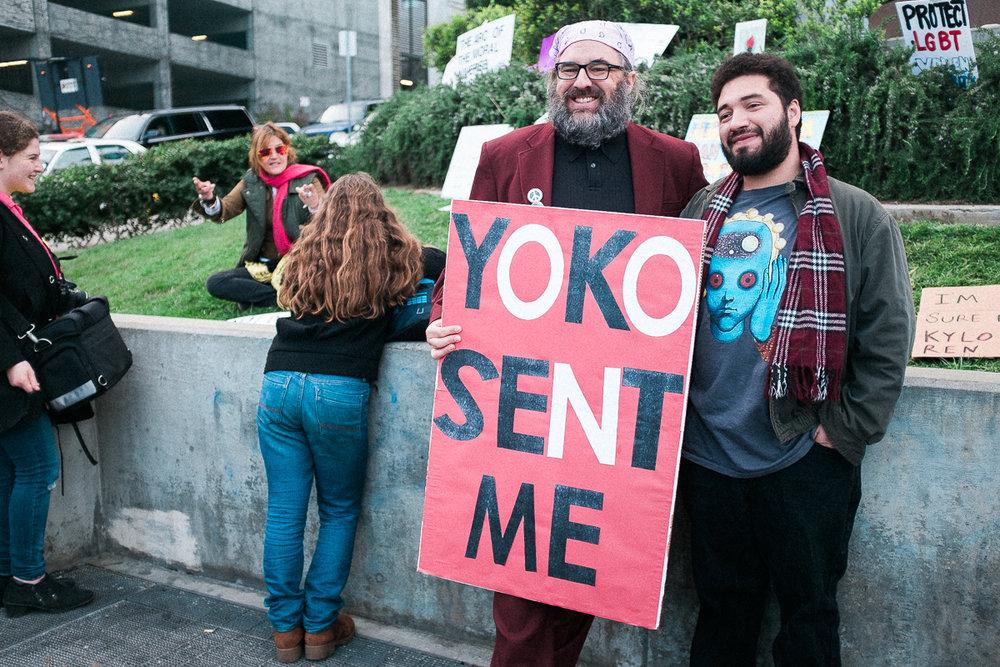 Yoko sent me