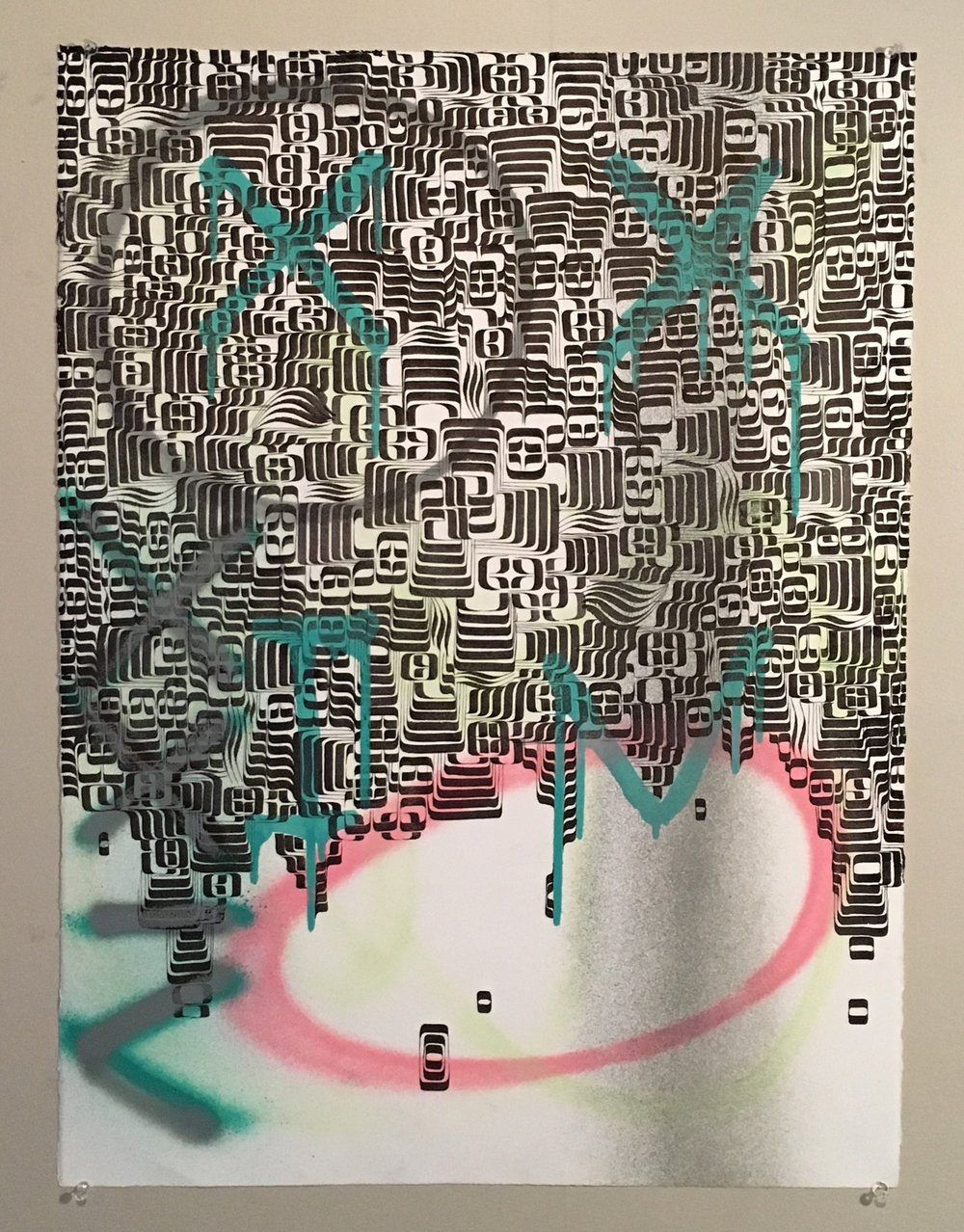 Mixed medium on BFK Rives. 29 in.by 22 in. NFS