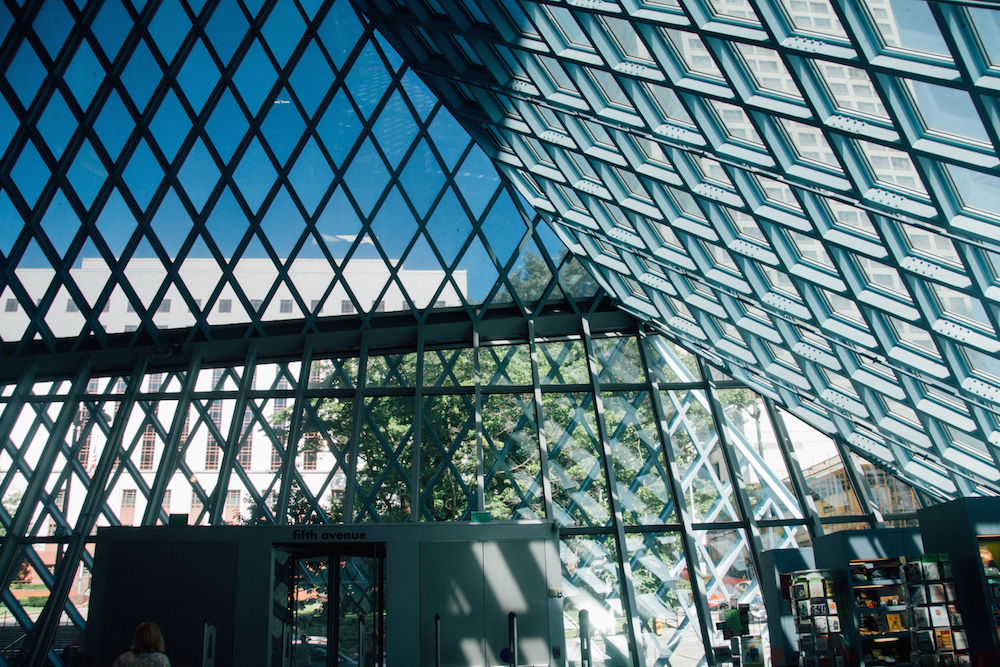 probably my favorite, the seattle public library