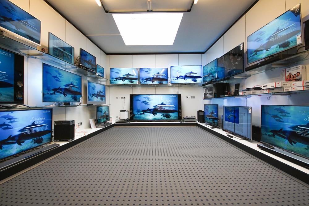 Wählen Sie aus über 60 vorführbereiten Fernsehern den passenden aus. Fragen Sie nach der TV-Eintauschaktion