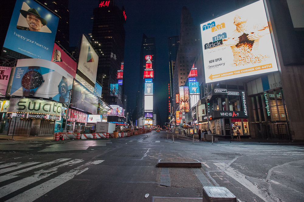 Time Square, New York City 5 am.