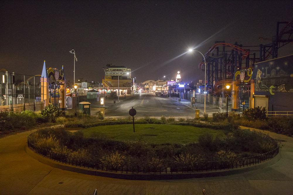 Coney Island, Brooklyn at 5:30 am.