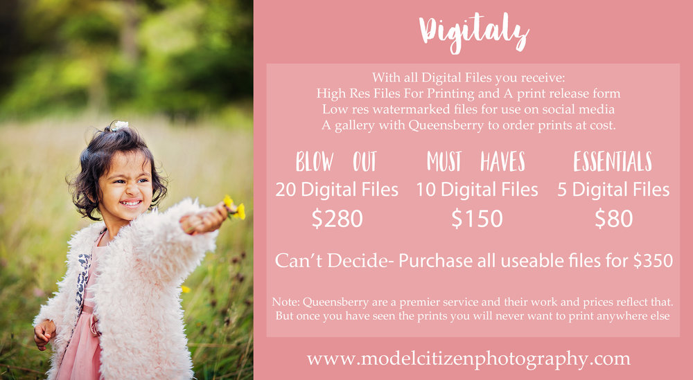 digital file packages model citizen photography minisession only