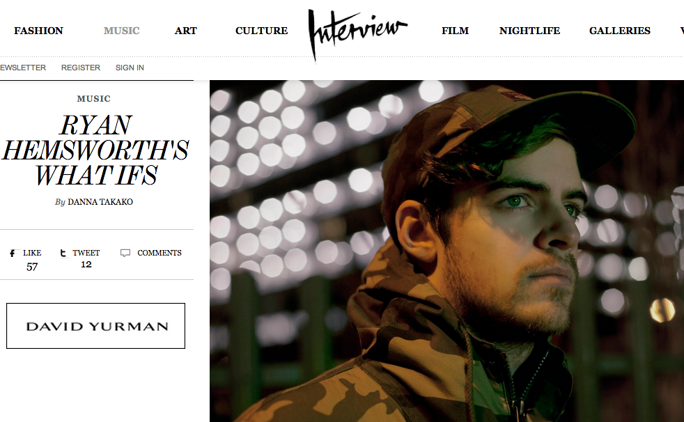 Ryan Hemsworth - Interview Magazine