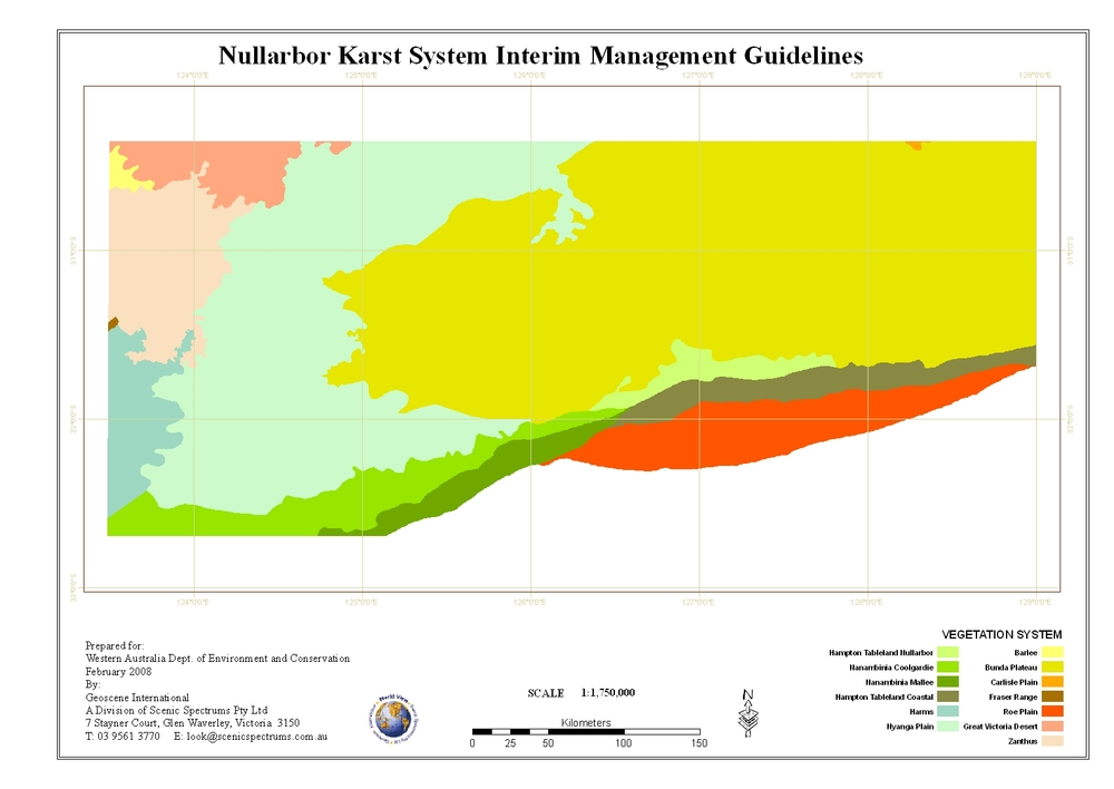 Nullarbor Karst Management Guidelines, GIS Mapping - Western Australia