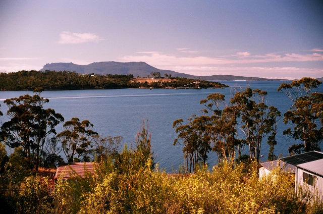 Maria Island from Triabunna, Tasmania (Source: Dennis Williamson, Copyright ©2016)