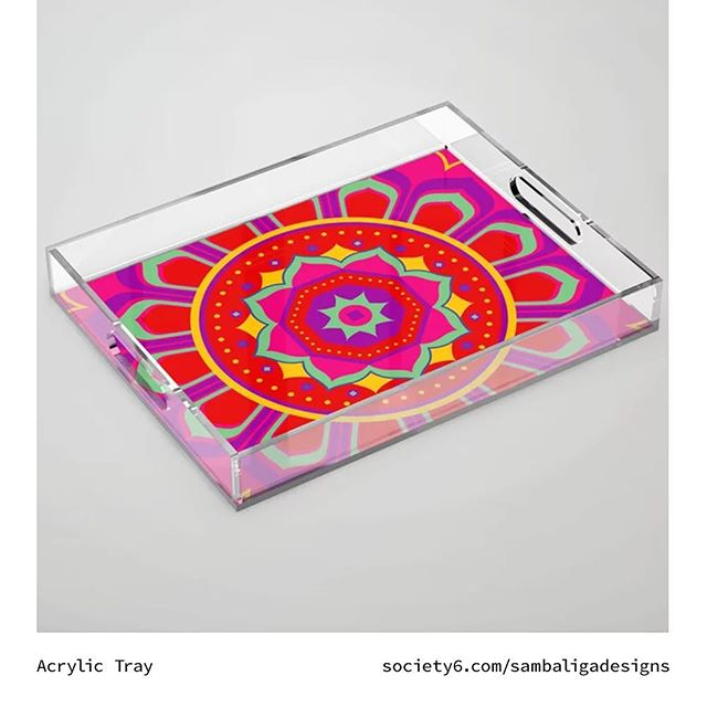 Add an accent to your table | The Masala Mandala Collection now available @society6 . Link in bio.. . . . . #society6 #artofwhere #design #designstore #masalamandala #mandala #illustration #goods #collection #shop #holidayshopping #gifts #servingtray #accenttray  #accentpieces #style #statementpiece #supportlocalart #sambaliga