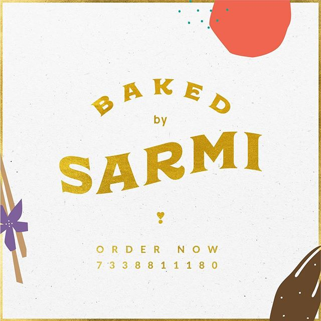 ✨ Baked by Sarmi x Designed by Sammy ✨. The Baliga sisters are teaming up, so buckle up!! Order absolutely yummy sweet treats from @sarmi_1807 now. I promise you, you will not regret it ✨✨ Please share the word 🤗 Official Insta drool page coming soon. . . #BakedbySarmi #Chocolates #Desserts #Brownies #allthoseyummythings #Branding