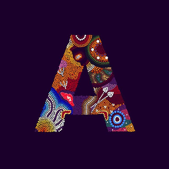 A for Aboriginal Art   Australia   #36daysoftype 🌟 Fun fact - The Australian Aboriginal tribe doesn't have a written language! Much like cave paintings, most shapes, even the seemingly abstract, are symbols that tell a story . . . . This year my theme for 36 Days of Type is art. I've been feeling lost as a designer and have been in search of a personal style. Where better to find inspiration than the truest form of design!  #typography #type #graphicdesign #design #art #ipad #adobe #illustration #procreate #sambaliga #sambaligaportfolio