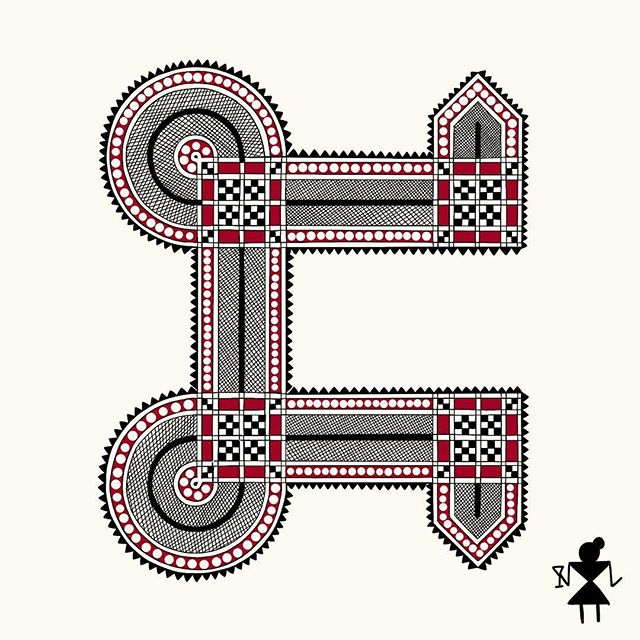 C for Chittara   Karnataka, India   #36daysoftype 🌟 Fun fact- Fairly unknown to most people, Chittara art is painted on walls of homes by women of the vanishing community of Deevarus. The subject of the painting is usually important moments in a person's life, the most ellaborate being the wedding scene. So here I am Chilling with my Chianti in Chi town, living my best life, single AF. . . @36daysoftype #typography #type #graphicdesign #design #art #ipad #adobe #illustration #procreate #sambaliga #sambaligaportfolio #indianart