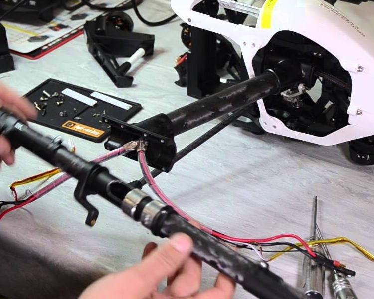 DJI Inspire Crash Damage Repairs