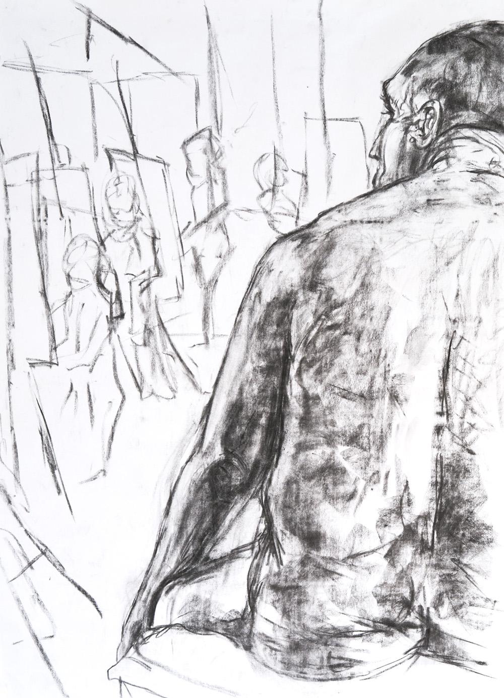 Life drawing 84x60cm 2008