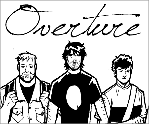 Rock of Pages #0 Overture In this prologue chapter, meet Lee Xopher and his friends Matt and Guillermo!  Read More >