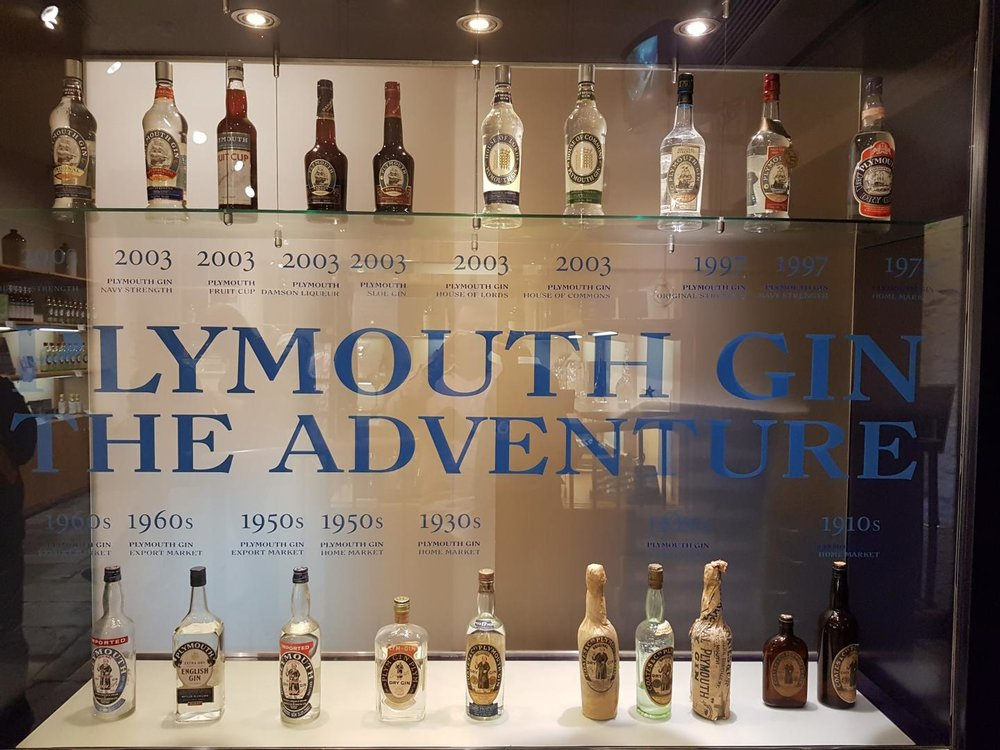 Plymouth bottles throughout the centuries.