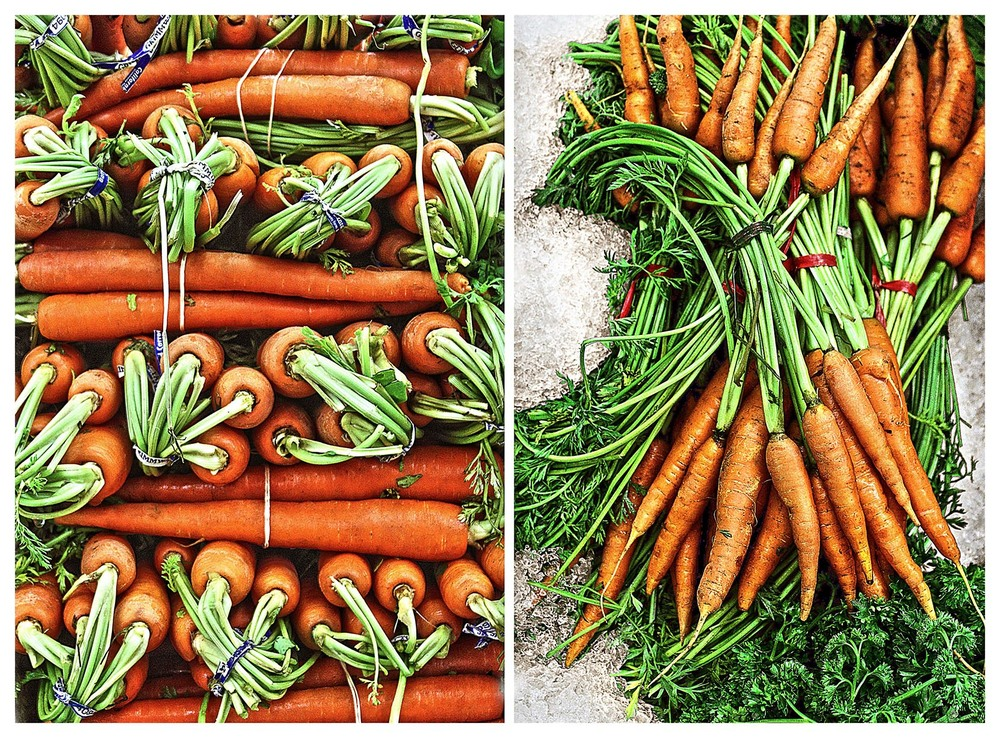 Perfectly orange carrots.